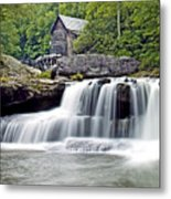 Old Grist Mill In Babcock State Park West Virginia Metal Print by Brendan Reals