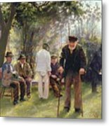 Old Men In Rockingham Park Metal Print by Walter Bonner Gash