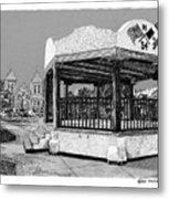 Old Mesilla Plaza And Gazebo Metal Print by Jack Pumphrey