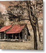 Old Mountain Cabin Metal Print by Debra and Dave Vanderlaan