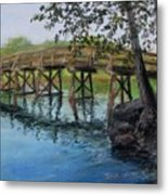 Old North Bridge In Pastel Metal Print by Jack Skinner