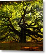 Old Old Angel Oak In Charleston Metal Print by Susanne Van Hulst