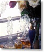Old Perfume Bottles Metal Print by Garry Gay