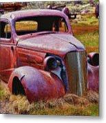Old Rusty Car Bodie Ghost Town Metal Print by Garry Gay