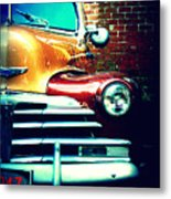 Old Savannah Police Car Metal Print by Dana  Oliver