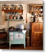 Old Time Farmhouse Kitchen Metal Print by Carmen Del Valle