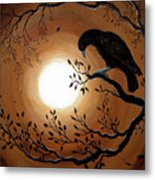Ominous Bird Of Yore Metal Print by Laura Iverson