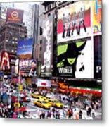 On Broadway New York Metal Print by Rosie Brown