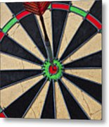 On Target Bullseye Metal Print by Garry Gay