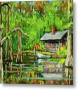 On The Bayou Metal Print by Dianne Parks