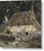 On The Brook Road Near Witley Metal Print by Helen Allingham