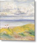 On The Cliffs Metal Print by Pierre Auguste Renoir