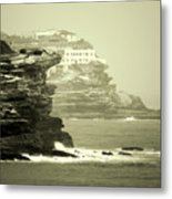 On The Rugged Cliffs Metal Print by Holly Kempe