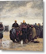 On The Shore Metal Print by Jacques Eugene Feyen