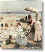 On The Shores Of Bognor Regis Metal Print by Alexander M Rossi