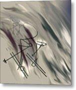 On The Slopes Metal Print by John Krakora