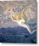 On The Wings Of The Morning Metal Print by Edward Robert Hughes