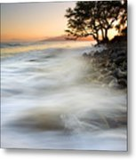 One Against The Tides Metal Print by Mike  Dawson