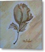 One Rose Metal Print by Marsha Heiken