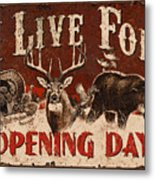 Opening Day Sign Metal Print by JQ Licensing