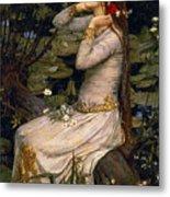 Ophelia Metal Print by John William Waterhouse