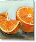 Orange Metal Print by Sarah Lynch