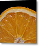 Orange Sunrise On Black Metal Print by Laura Mountainspring