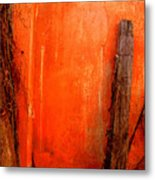 Orange Wall By Michael Fitzpatrick Metal Print by Mexicolors Art Photography