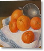 Oranges And Tangerines Metal Print by Donelli  DiMaria