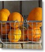 Orangey Metal Print by Dan Holm