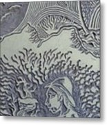 Original Linoleum Block Print Metal Print by Thor Senior