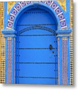 Ornate Moroccan Doorway, Essaouira, Morocco, Middle East, North Africa, Africa Metal Print by Andrea Thompson Photography