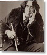 Oscar Wilde, 1854-1900 Irish Writer Metal Print by Everett