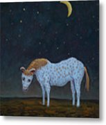 Out To Pasture Metal Print by James W Johnson