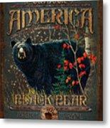 Outdoor Bear Metal Print by JQ Licensing
