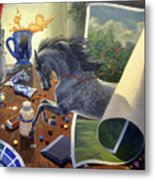Over The Edge Metal Print by Jeanne Newton Schoborg