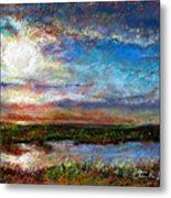 Over The Marsh Metal Print by Peter R Davidson