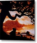 Overlooking Tara At Sunset Metal Print by Al  Molina