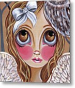 Owl Angel Metal Print by Jaz Higgins