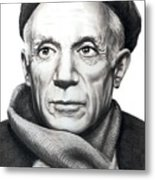 Pablo Picasso Metal Print by Murphy Elliott