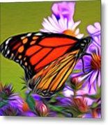 Painted Butterfly Metal Print by David Kehrli