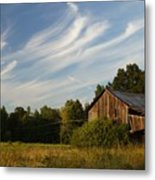 Painted Sky Barn Metal Print by Benanne Stiens