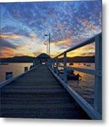 Palm Beach Wharf At Dusk Metal Print by Avalon Fine Art Photography