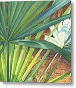 Palmettos And Stellars Blue Metal Print by Marguerite Chadwick-Juner