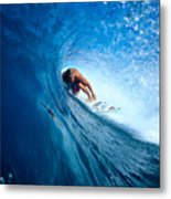 Pancho In The Tube Metal Print by Vince Cavataio - Printscapes