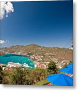 Paradise Point View Of Charlotte Amalie Saint Thomas Us Virgin Islands Metal Print by George Oze