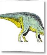 Parasaurolophus Metal Print by Michael Vigliotti