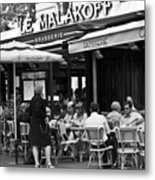 Paris Street Cafe - Le Malakoff Metal Print by Georgia Fowler