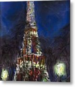 Paris Tour Eiffel Metal Print by Yuriy  Shevchuk