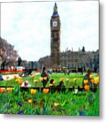 Parliament Square London Metal Print by Kurt Van Wagner